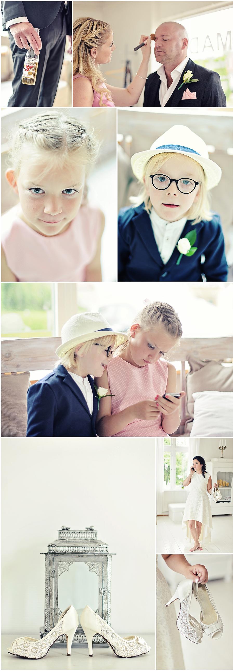Bröllopsfotografering Frida och Johan vid Odensjön