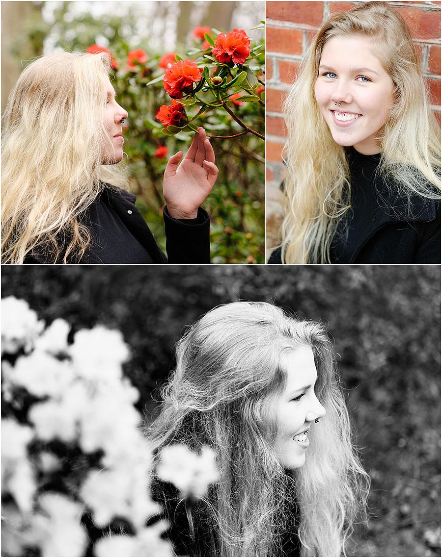 Porträttfotografering på Sofiero, mars 2017